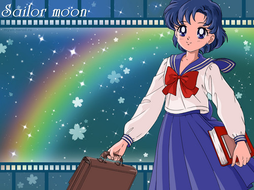 Sailor Mercury wallpaper probably containing anime titled Ami