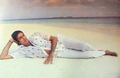 Amitabh Bachchan In Beach