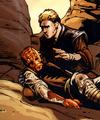 Anakin grieving Bath's death.