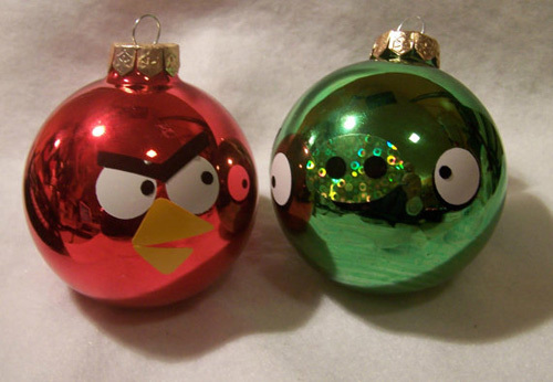Angry Birds Christmas Ornaments