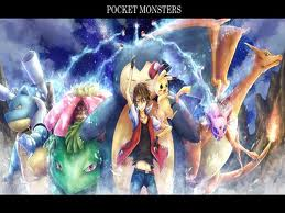 Pokemon Hintergrund containing Anime called Red and his pokemon