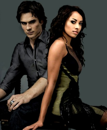 Damon & Bonnie wallpaper possibly containing a well dressed person and a cocktail dress called Bamon Love!!!!