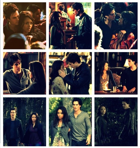 Damon & Bonnie wallpaper possibly containing a newspaper and anime entitled Bamon TVD