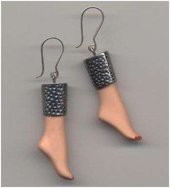 Barbie feet earrings