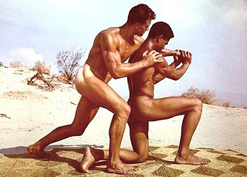 Bill Brooms & Ed Fury - vintage-beefcake photo