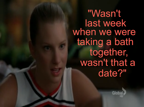 Glee wallpaper probably containing a portrait entitled Brittany Quotes