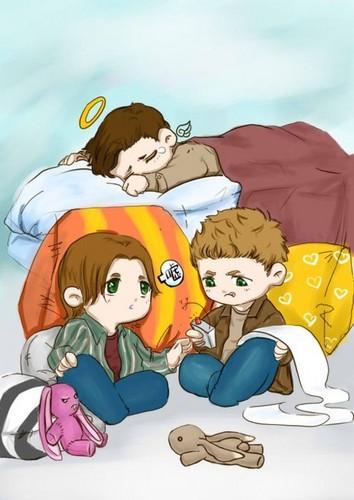 Cas, Dean and Sammy