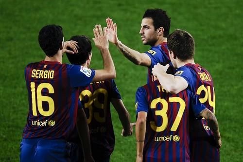 Cesc Fabregas: FC Barcelona (9) v CE L'Hospitalet (0) - Copa del Rey
