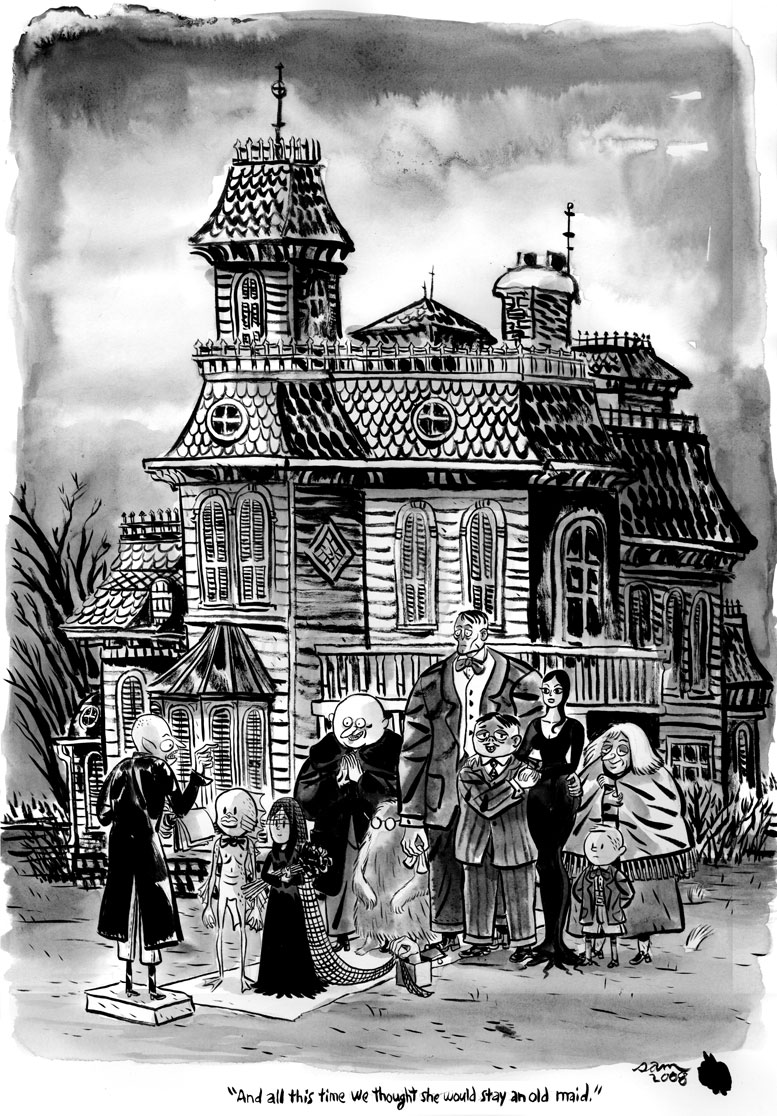 1000 Images About Charles Addams Design And Illustration