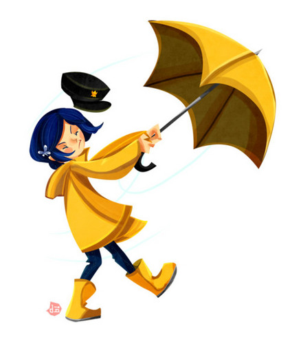 Coraline fond d'écran probably containing a parasol titled Coraline Fanart