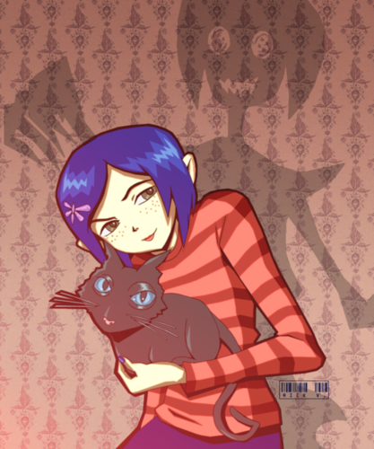 Coraline fond d'écran containing animé called Coraline Fanart