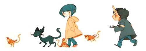 Coraline hình nền probably containing anime entitled Coraline Fanart