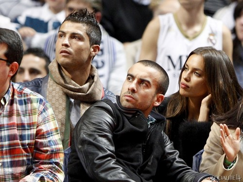 Cristiano Ronaldo & Iriina Shayk At A Basketball Game In Spain