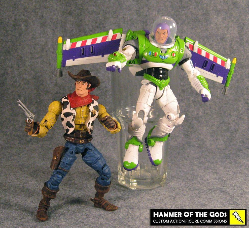 Custom Buzz and Woody Figures