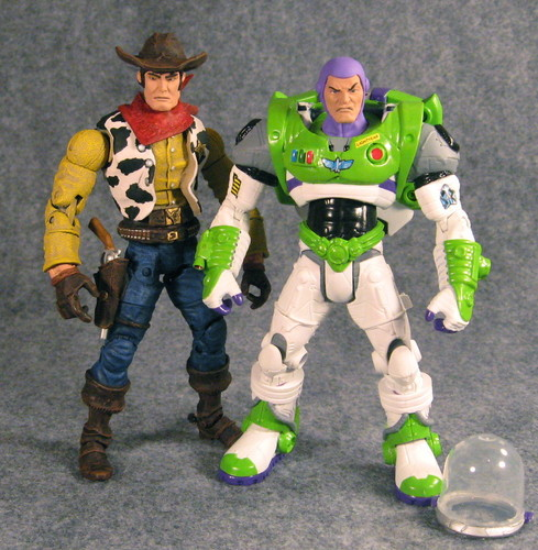 Custom Buzz and Woody Figures