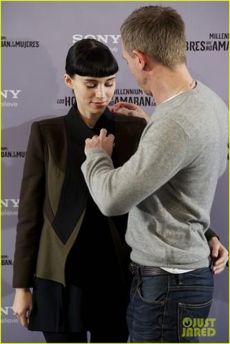 Daniel Craig & Rooney Mara: 'Dragon Tattoo' in Madrid