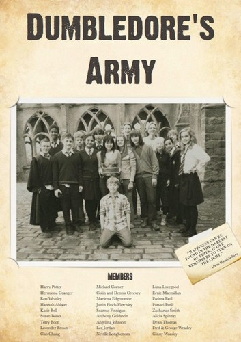 harry potter wallpaper with a newspaper entitled Dumbledore's Army