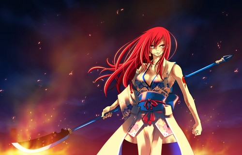 Erza Scarlet wallpaper probably with a concert entitled Erza Scarlet