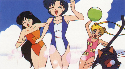 Sailor Mercury wallpaper with animê entitled Fun on the de praia, praia