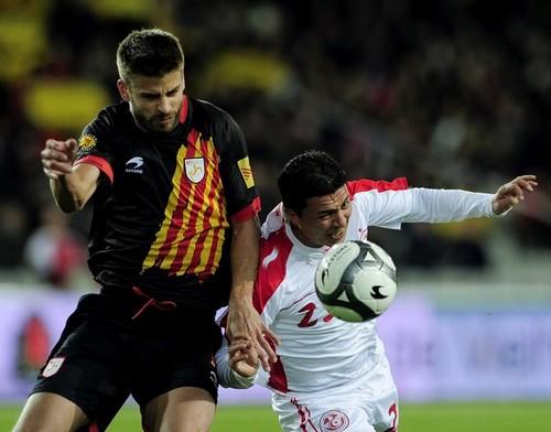 Gerard Piqué: Catalonia (0) v Tunisia (0)
