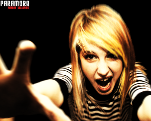 Female Lead Singers wallpaper probably containing a concert and a portrait called Hayley Williams of Paramore