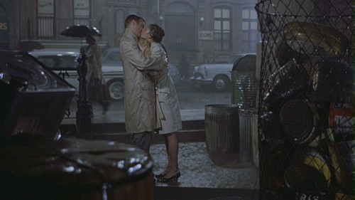 "Movie Couples wallpaper containing a street titled Holly & Paul in ""Breakfast at Tiffany's"""