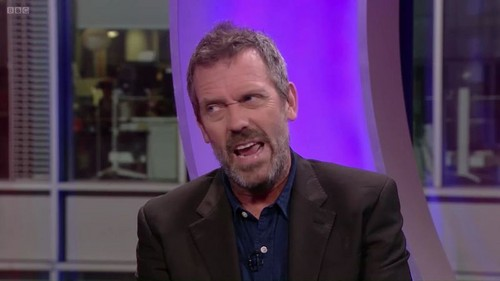 Hugh Laurie wallpaper with a business suit, a suit, and a three piece suit entitled Hugh Laurie- The One Show 22.11.2011