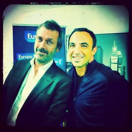 Hugh Laurie and Nicos Aliagas