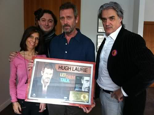 Hugh Laurie and Roberto Pettinato 18.11.2011