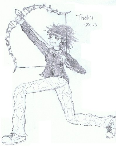 I drew Thalia, check it out or eat voltage. - the-heroes-of-olympus Fan Art