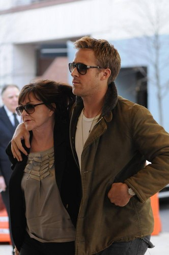 January 1st: Arriving at a movie theater in Uptown Manhattan with his mother Donna