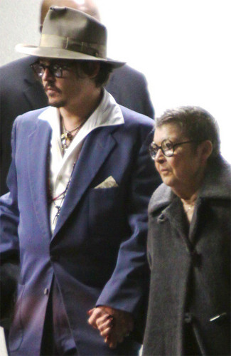 Johnny and his mother =)