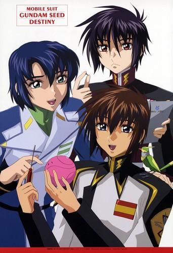 Kira, Shinn, and Athrun