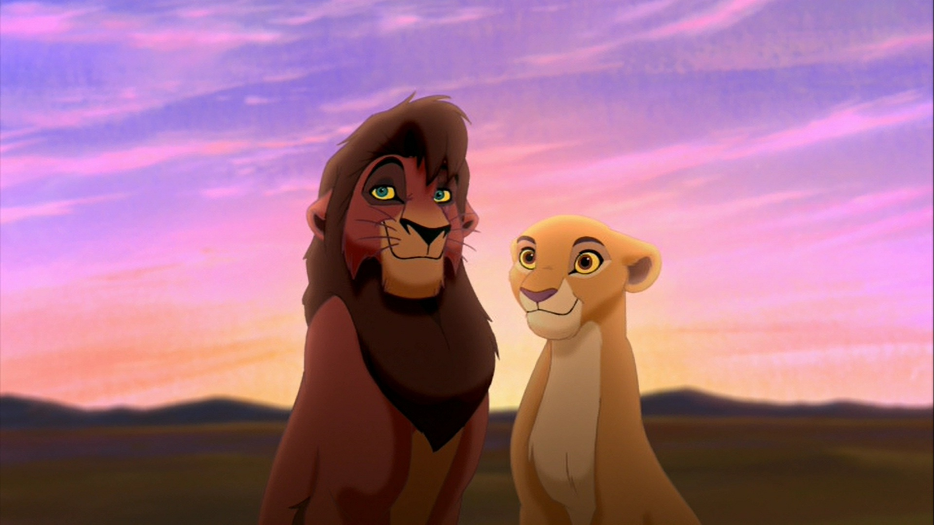 Kovu and Kiara HD Wallpaper - The Lion King Wallpaper ...