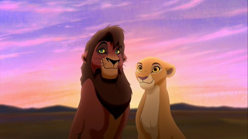 the lion king wallpaper called Kovu and Kiara HD wallpaper