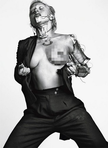 "Lady Gaga Bares ""The Big Ones"" for L'Uomo Vogue"