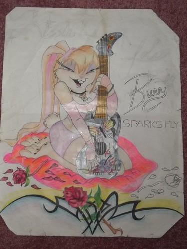 Lola Bunny and Her guitar, gitaa