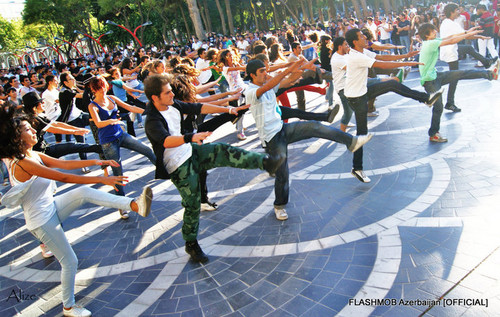 MJ Flashmob in Azerbaijan
