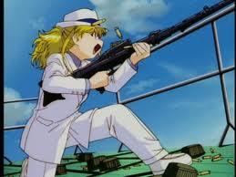 Maki and her MG34 57mm machine gun with 75 round drum magazine