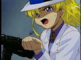 Maki and her MP40 sub-machine gun
