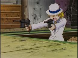 Maki firing her twin Mauser handguns
