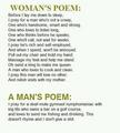 Man/Woman poems