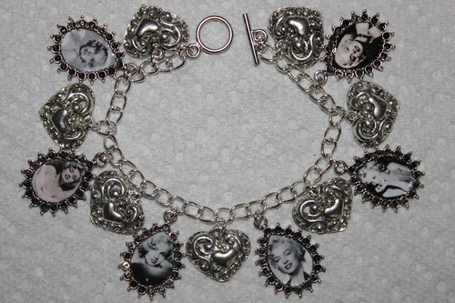 Marilyn Monroe Altered Art Charm Bracelet
