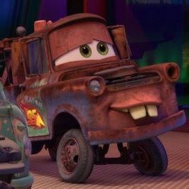 Disney Pixar Cars 2 wallpaper probably with a humvee titled Mater 'In Love'