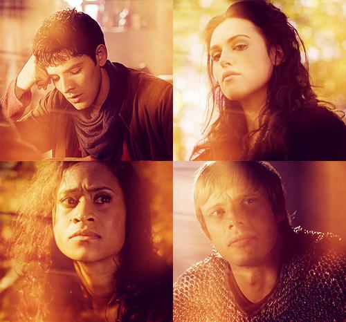 Merlin, Morgana, Gwen, Arthur