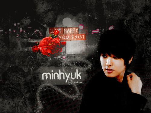 Min Hyuk kertas dinding