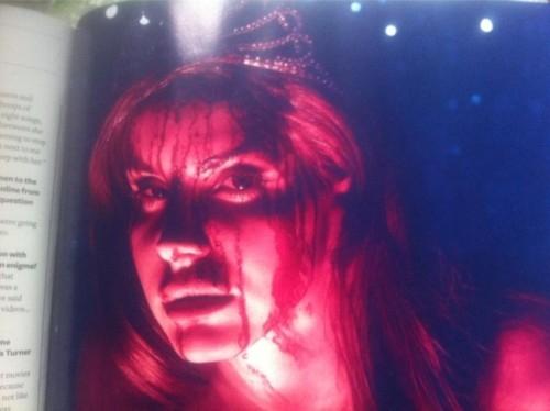 lebih bloody pics from Lana Del Rey's Q cover shoot