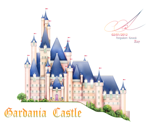 My new 粉丝 Art (PCS's Castle) ^^