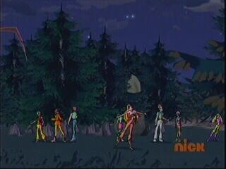 Winx Club karatasi la kupamba ukuta probably with a ponderosa and a douglas fir entitled Nickelodeon; The Final Battle