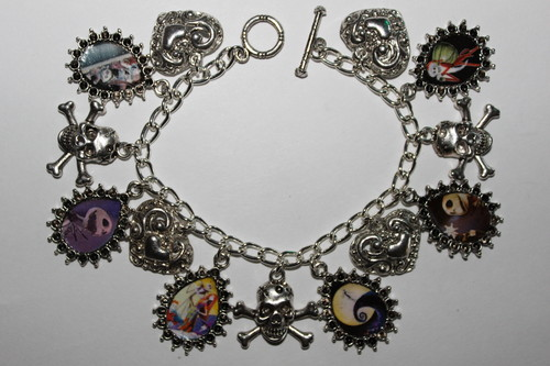 Nightmare Before Christmas Altered Art Charm Bracelet